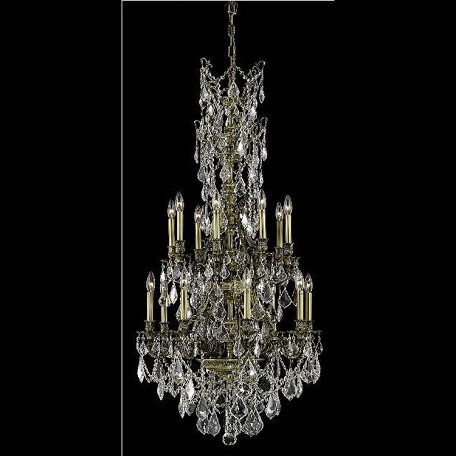 "Monarch Collection 16-Light 27"" Antique Bronze Chandelier with Clear Swarovski Spectra Crystal 9616D27AB/SA"