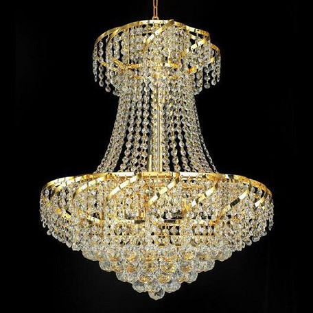 "Belenus Collection 11-Light 22"" Gold Chandelier with Clear Swarovski Spectra Crystal ECA1D22G/SA"