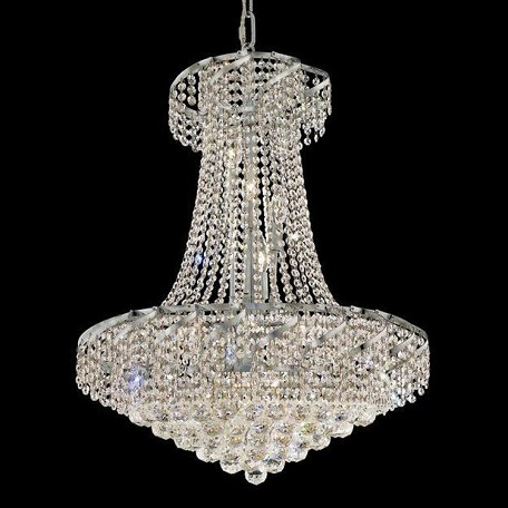 "Belenus Collection 15-Light 26"" Chrome Chandelier with Clear  Swarovski Strass Crystal ECA1D26C/SS"