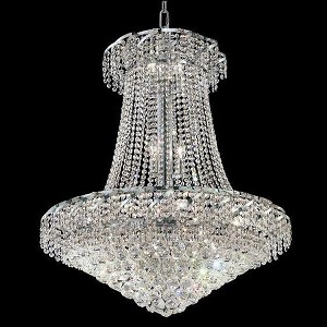 "Belenus Collection 18-Light 30"" Chrome Chandelier with Clear  Swarovski Strass Crystal ECA1D30C/SS"