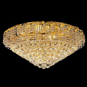 "Belenus Collection 12-Light 30"" Gold Flush Mount with Clear  Swarovski Strass Crystal ECA1F30G/SS"