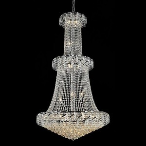 "Belenus Collection 32-Light 36"" Chrome Chandelier with Clear  Swarovski Strass Crystal ECA1G36C/SS"