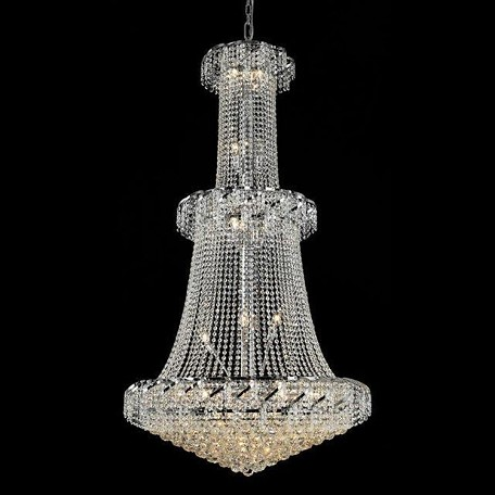 "Belenus Collection 32-Light 36"" Chrome Chandelier with Clear Swarovski Spectra Crystal ECA1G36C/SA"