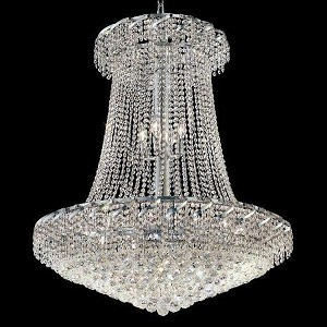 "Belenus Collection 22-Light 36"" Chrome Chandelier with Clear Royal Cut Crystal ECA1G36SC/RC"