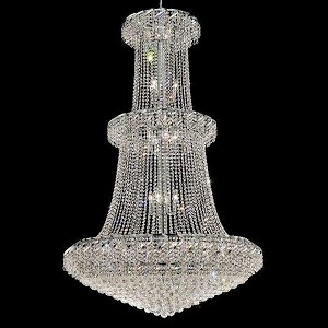 "Belenus Collection 32-Light 42"" Chrome Chandelier with Clear  Swarovski Strass Crystal ECA1G42C/SS"