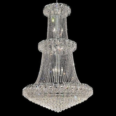 "Belenus Collection 32-Light 42"" Chrome Chandelier with Clear Swarovski Spectra Crystal ECA1G42C/SA"