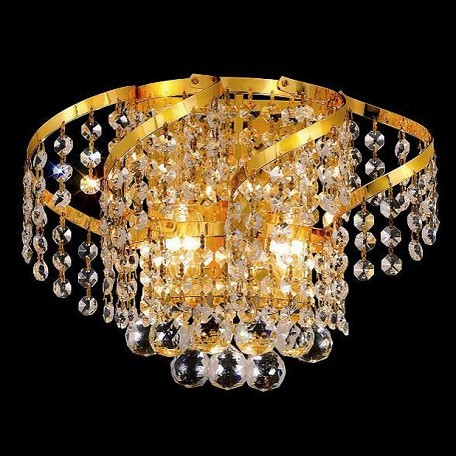 "Belenus Collection 2-Light 12"" Gold Wall Sconce with Clear Swarovski Spectra Crystal ECA1W12G/SA"