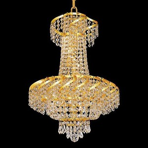 "Belenus Collection 6-Light 18"" Gold Chandelier with Clear  Swarovski Strass Crystal ECA2D18G/SS"