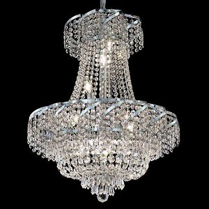 "Belenus Collection 11-Light 22"" Chrome Chandelier with Clear Swarovski Spectra Crystal ECA2D22C/SA"