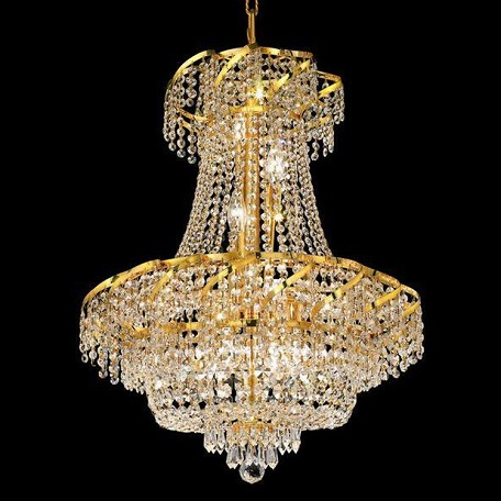"Belenus Collection 11-Light 22"" Gold Chandelier with Clear Swarovski Spectra Crystal ECA2D22G/SA"