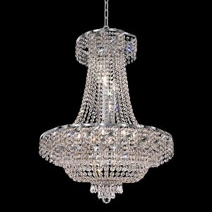 "Belenus Collection 15-Light 26"" Chrome Chandelier with Clear Swarovski Spectra Crystal ECA2D26C/SA"