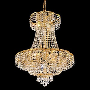 "Belenus Collection 15-Light 26"" Gold Chandelier with Clear Swarovski Spectra Crystal ECA2D26G/SA"