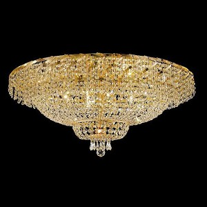 "Belenus Collection 28-Light 36"" Gold Flush Mount with Clear  Swarovski Strass Crystal ECA2F36G/SS"