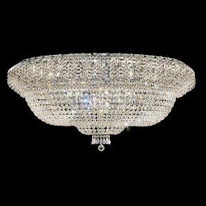"Belenus Collection 36-Light 48"" Chrome Flush Mount with Clear Elegant Cut Crystal ECA2F48C/EC"