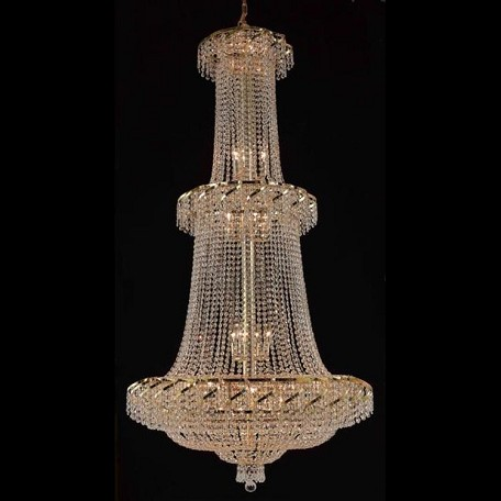 "Belenus Collection 32-Light 36"" Gold Chandelier with Clear Swarovski Spectra Crystal ECA2G36G/SA"