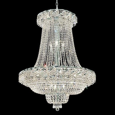 "Belenus Collection 22-Light 36"" Chrome Chandelier with Clear Elegant Cut Crystal ECA2G36SC/EC"