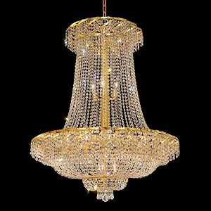 "Belenus Collection 22-Light 36"" Gold Chandelier with Clear Swarovski Spectra Crystal ECA2G36SG/SA"