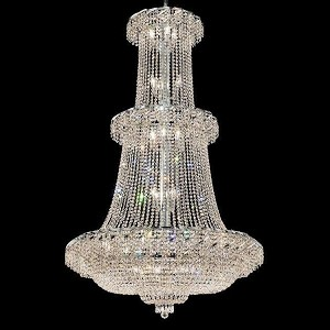 "Belenus Collection 32-Light 42"" Chrome Chandelier with Clear Swarovski Spectra Crystal ECA2G42C/SA"