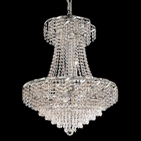 "Belenus Collection 11-Light 22"" Chrome Chandelier with Clear Swarovski Spectra Crystal ECA4D22C/SA"