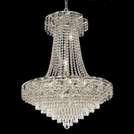"Belenus Collection 15-Light 26"" Chrome Chandelier with Clear Swarovski Spectra Crystal ECA4D26C/SA"
