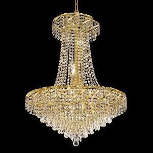 "Belenus Collection 15-Light 26"" Gold Chandelier with Clear  Swarovski Strass Crystal ECA4D26G/SS"