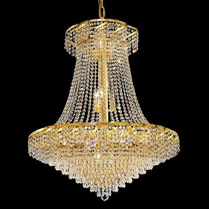"Belenus Collection 18-Light 30"" Gold Chandelier with Clear Royal Cut Crystal ECA4D30G/RC"