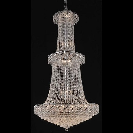 "Belenus Collection 32-Light 36"" Chrome Chandelier with Clear Swarovski Spectra Crystal ECA4G36C/SA"