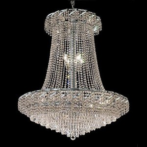 "Belenus Collection 22-Light 36"" Chrome Chandelier with Clear Swarovski Spectra Crystal ECA4G36SC/SA"