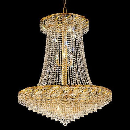 "Belenus Collection 22-Light 36"" Gold Chandelier with Clear Swarovski Spectra Crystal ECA4G36SG/SA"