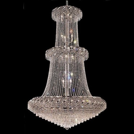 "Belenus Collection 32-Light 42"" Chrome Chandelier with Clear Swarovski Spectra Crystal ECA4G42C/SA"