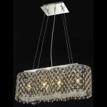 "Moda Collection 4-Light 8"" Chrome Island Light with Topaz Brown Royal Cut Crystal 1295D24C-TO/RC"