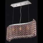 "Moda Collection 5-Light 9"" Chrome Island Light with Bordeaux Red Royal Cut Crystal 1296D32C-BO/RC"