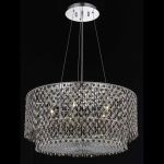 "Moda Collection 5-Light 28"" Chrome Pendant with Topaz Brown Swarovski Strass Crystal 1298D28C-TO/SS"