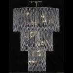 "Moda Collection 9-Light 16"" Chrome Chandelier with Sapphire Blue Swarovski Strass Crystal 1298G84C-SA/SS"