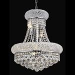 "Primo Collection 8-Light 16"" Chrome Chandelier with Clear  Swarovski Strass Crystal 1800D16C/SS"