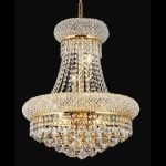 "Primo Collection 8-Light 16"" Gold Chandelier with Clear  Swarovski Strass Crystal 1800D16G/SS"