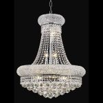 "Primo Collection 14-Light 20"" Chrome Chandelier with Clear  Swarovski Strass Crystal 1800D20C/SS"