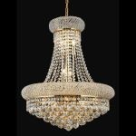 "Primo Collection 14-Light 20"" Gold Chandelier with Clear Swarovski Spectra Crystal 1800D20G/SA"
