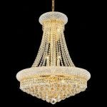 "Primo Collection 14-Light 24"" Gold Chandelier with Clear  Swarovski Strass Crystal 1800D24G/SS"
