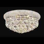 "Primo Collection 8-Light 16"" Chrome Flush Mount with Clear  Swarovski Strass Crystal 1800F16C/SS"