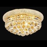 "Primo Collection 8-Light 16"" Gold Flush Mount with Clear Swarovski Spectra Crystal 1800F16G/SA"
