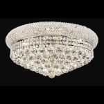 "Primo Collection 10-Light 20"" Chrome Flush Mount with Clear  Swarovski Strass Crystal 1800F20C/SS"