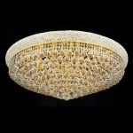"Primo Collection 20-Light 36"" Gold Flush Mount with Clear Elegant Cut Crystal 1800F36G/EC"