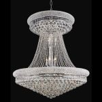 "Primo Collection 28-Light 36"" Chrome Chandelier with Clear Swarovski Spectra Crystal 1800G36SC/SA"