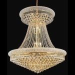 "Primo Collection 28-Light 36"" Gold Chandelier with Clear Swarovski Spectra Crystal 1800G36SG/SA"