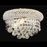 "Primo Collection 2-Light 12"" Chrome Wall Sconce with Clear  Swarovski Strass Crystal 1800W12C/SS"