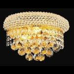 "Primo Collection 2-Light 12"" Gold Wall Sconce with Clear  Swarovski Strass Crystal 1800W12G/SS"