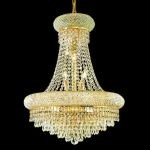 "Primo Collection 14-Light 20"" Gold Chandelier with Clear  Swarovski Strass Crystal 1802D20G/SS"