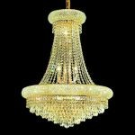 "Primo Collection 14-Light 24"" Gold Chandelier with Clear  Swarovski Strass Crystal 1802D24G/SS"