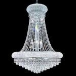 "Primo Collection 14-Light 28"" Chrome Chandelier with Clear  Swarovski Strass Crystal 1802D28C/SS"
